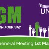 AGM on the 1st March